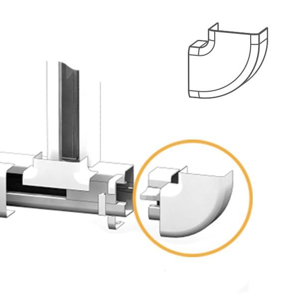 Angle Plat goulotte électrique PVC 100x54