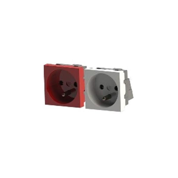 Socie avec contact de terre goulotte électrique 45x45