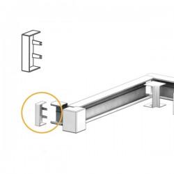 Embout goulotte électrique PVC 80x40