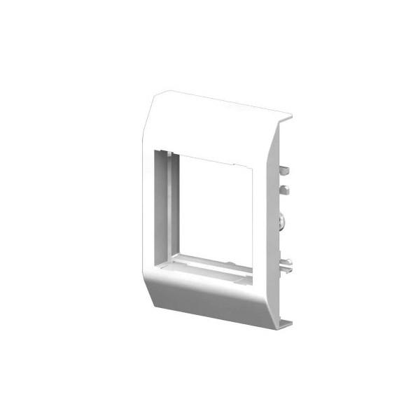 Plaque simple goulotte électrique PVC 80x40
