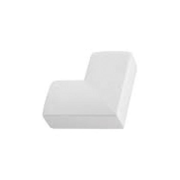 Angle Plat goulotte électrique PVC 20x10