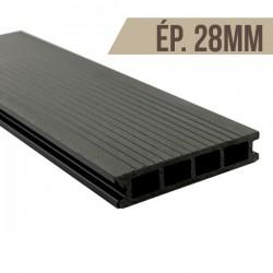Lame terrasse bois composite Noir 2200x150x28mm