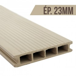 Lame terrasse bois composite Blanc 2200x140x23mm