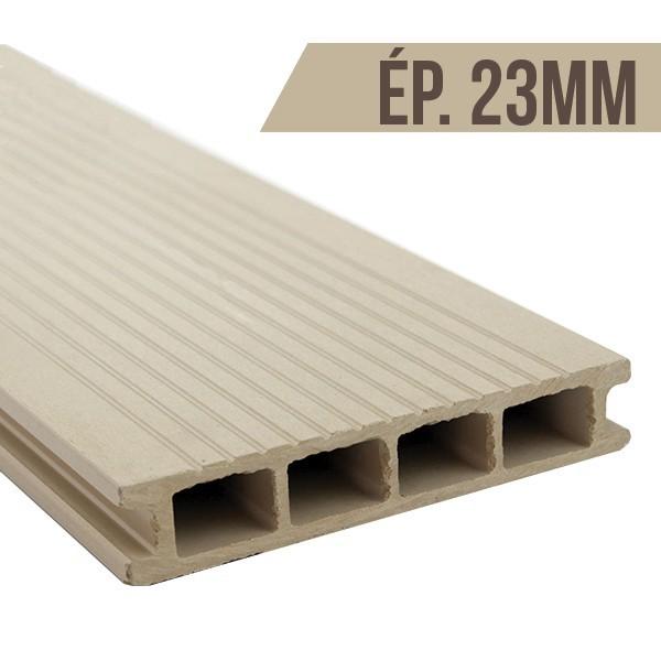 Lames terrasse bois composite blanc