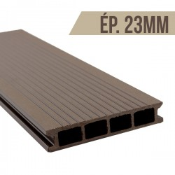 Lame terrasse bois composite Brun 2200x140x23mm