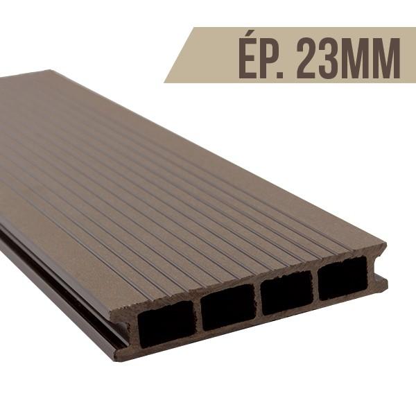 Lames terrasse bois composite brun