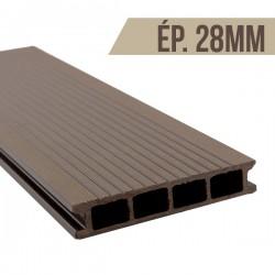 Lame terrasse bois composite Brun 2200x150x28mm