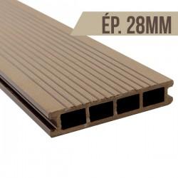 Lame terrasse bois composite Brun clair 2200x150x28mm
