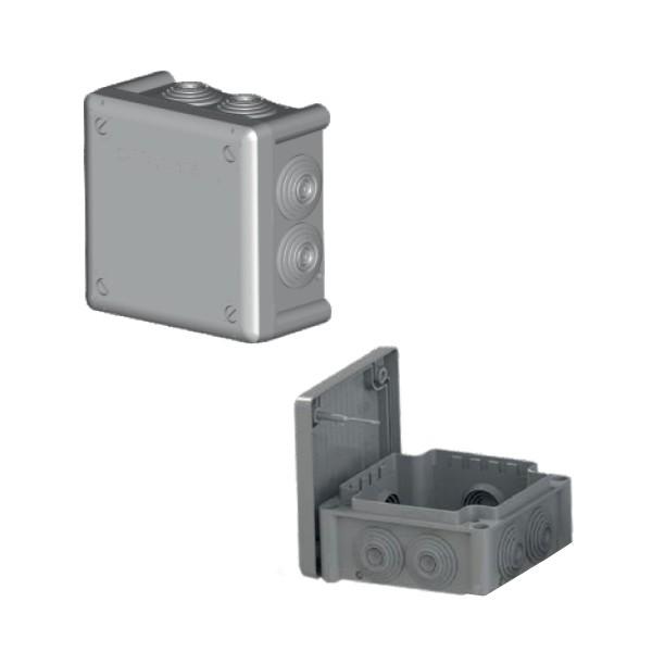 Boîte dérivation étanche embout gradin IP66 (100x100x55) 750°