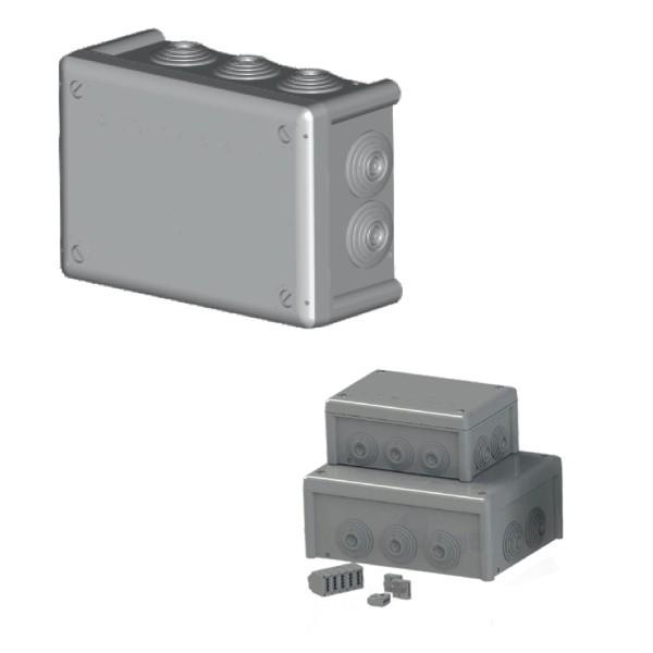 Boîte dérivation étanche embout gradin IP66 (155x100x70) 750°