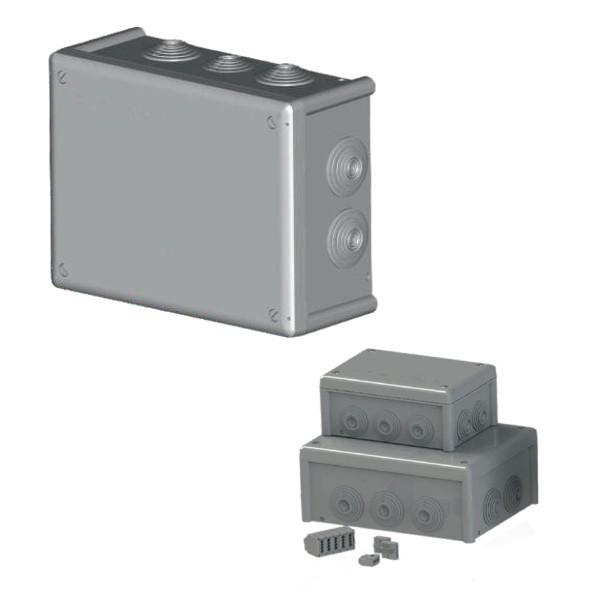 Boîte dérivation étanche embout gradin IP66 (200x155x85) 750°