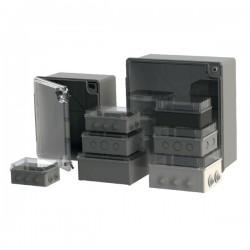 Boîte dérivation étanche Serie 200 transparente (150x110x70) 750°