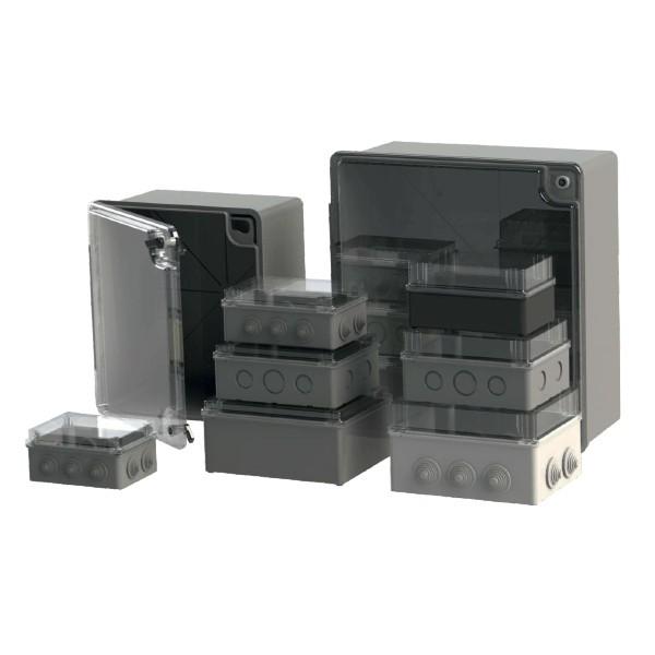 Boîte dérivation étanche Serie 200 transparente (220X170X120) 750°