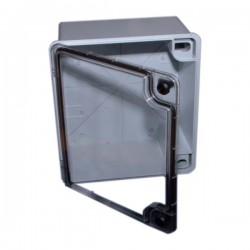 Coffret lisse porte transparente 430x390x195