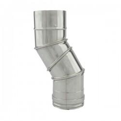 Tubage cheminée inox simple paroi - Coude réglable 0º à 90º