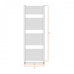 Radiateur alu Sèche-serviettes eau chaude KROM 1500x450