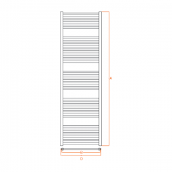 Radiateur alu Sèche-serviettes eau chaude KROM 1800x500