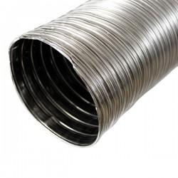 Tubage cheminée - Gaine inox flexible double paroi