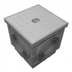 Regard sol en polypropylène PP + couvercle piéton 30x30 cm