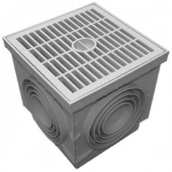 Regard sol en polypropylène PP + grille piéton 55x55 cm