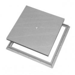 Couvercle + cadre en polypropylène piéton 55x55 cm