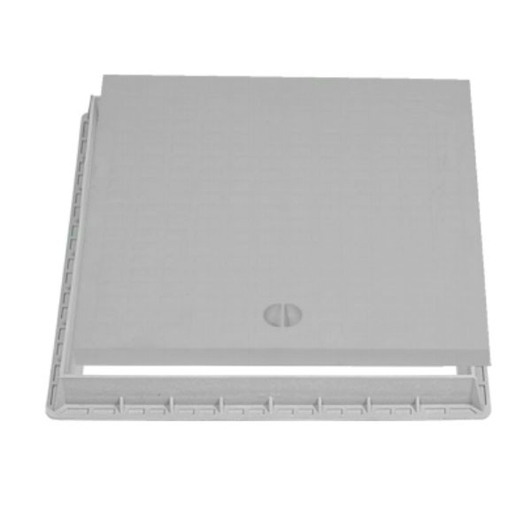 Couvercle + cadre Xtrela en polypropylène 40x40 cm