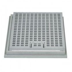 Grille LUX + cadre renforcée en polypropylène 30x30 cm