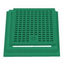Grille + cadre en polypropylène vert 20x20 cm