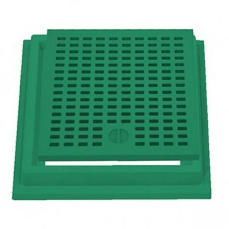 Grelha com aro reforçado top verde 20 x 20