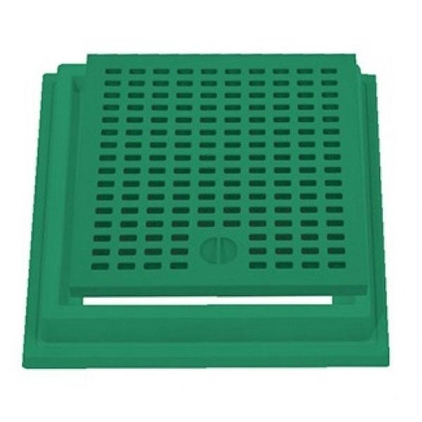 Grelha com aro reforçado top verde 40 x 40