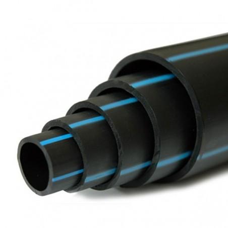 Tuyau Polyéthylène PEHD bande bleue Ø 63 mm 10 kg / bars - L.100m