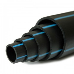 Tuyau polyéthylène PE80 bande bleue Ø 110 mm 10 kg/bars - L.50 m