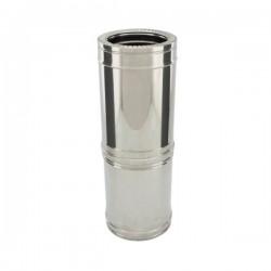 Conduit Inox double paroi isolé - Tuyau télescopique 38/56 cm