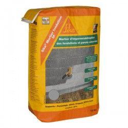 Mortier ciment imperméable Sikalastic 1K gris - Sac 18kg