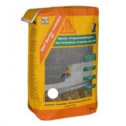 Mortier ciment imperméable Sikalastic 1K blanc - Sac 18kg