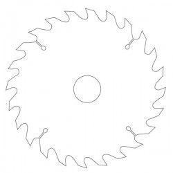 Disque scie circulaire 30 dents Ø 216