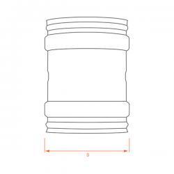 Machon Femelle/Femelle Inox Simple Paroi
