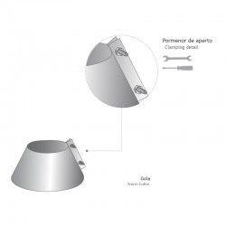 Solin Aluminium-Inox Avec Collerette Pente 5º/40º
