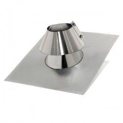 Solin 90º aluminium-Inox avec collerette