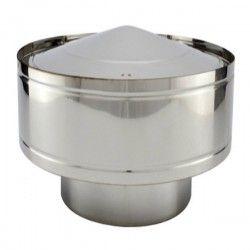 Chapeau anti-pluie conduit Inox simple paroi