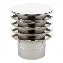 Chapeau anti-refoulement tubage Inox simple paroi