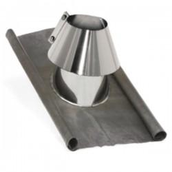 Solin plomb-Inox avec collerette pente 5º/40º